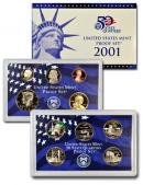 2001 United States Mint 10pc Clad Proof Set