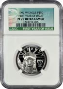 1997-W First Year of Issue $50 Platinum Eagle NGC PF70 UC Proof 70 Ultra Cameo