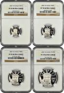2007-W 4 Coin 1.85 Oz Platinum Eagle Set NGC PF70 UC Proof 70 Ultra Cameo