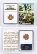 (1861-1865) United States Our Army Civil War Token NGC MS65 RD In Story Vault Holder