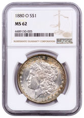 1880-O Morgan Silver Dollar NGC MS62