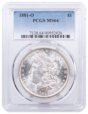 1881-O Morgan Silver Dollar PCGS MS64