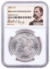 1883-O Morgan Silver Dollar NGC Brilliant Uncirculated Wyatt Earp Label