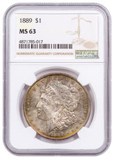 1889 Morgan Silver Dollar Toned NGC MS63 CPCR 5017