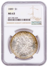 1889 Morgan Silver Dollar Toned NGC MS63 CPCR 5029