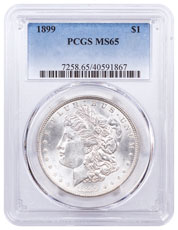 1899 Morgan Silver Dollar PCGS MS65