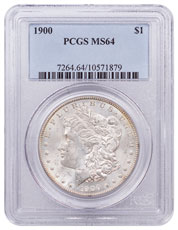 1900 Morgan Silver Dollar PCGS MS64