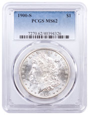 1900-S Morgan Silver Dollar PCGS MS62