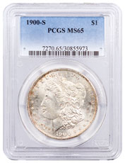 1900-S Morgan Silver Dollar PCGS MS65