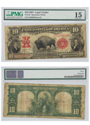 1901 $10 U.S. Notes Legal Tender - Bison PMG Ch. F15