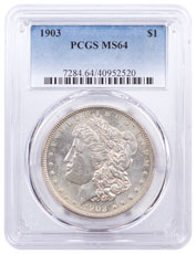 1903 Morgan Silver Dollar PCGS MS64
