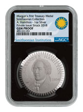 1903 Morgan Treasury 1 oz Silver Proof Pattern NGC GEM Proof Black Core Holder Exclusive Smithsonian Label