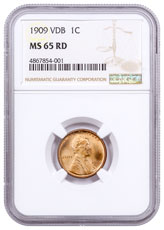 1909 Lincoln Cent NGC MS65 VDB RD