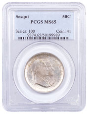 1926-(P) Sesquicentennial Half Dollar Commemorative Silver Coin PCGS MS65