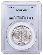 1946-S Walking Liberty Half Dollar PCGS MS65