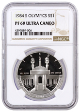 1984-S Olympics Commemorative Silver Dollar Proof NGC PF69 UC