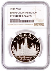 1998-S ROBERT KENNEDY SILVER PROOF S$1 NGC PF69 ULTRA CAMEO