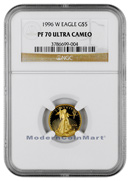 1996-W 1/10 Troy Oz Gold Eagle $5 NGC PF70 UC Proof 70 Ultra Cameo