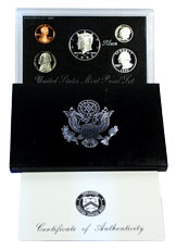 1997-S U.S. Silver Proof Coin Set GEM Proof OGP