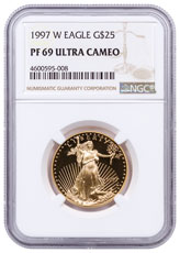 1997-W 1/2 oz Gold American Eagle Proof $25 NGC PF69 UC