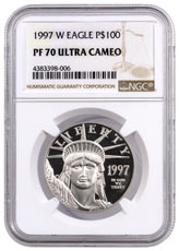 1997-W 1 oz Platinum American Eagle Proof $100 NGC PF70 UC