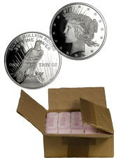 Monster Box of 500 Private Mint Peace Dollar Design 1 oz Silver Rounds (Mint Sealed)