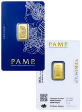 PAMP Fortuna 2.5 g Gold Bar In Assay