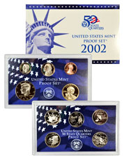2002-S U.S. Proof Coin Set GEM Proof OGP