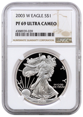 2003-W Proof American Silver Eagle NGC PF69 UC