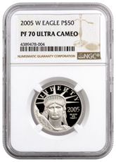 2005-W 1/2 oz Platinum American Eagle Proof $50 NGC PF70 UC