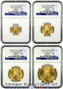 2007-W 4 Coin Burnished Gold Eagle Set NGC MS69 ER Mint State 69 Early Releases