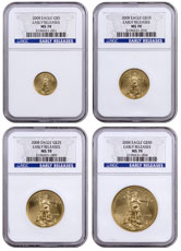 2008 Gold American Eagle 4-Coin Set NGC MS70 ER