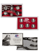 2008-S U.S. 50 State Quarter Silver Proof Set GEM Proof OGP