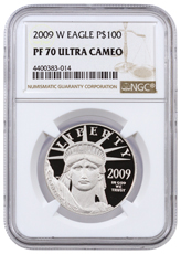 2009-W 1 oz Platinum American Eagle Proof $100 NGC PF70 UC
