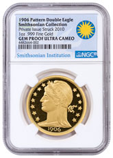 2010 1 oz. Proof Gold Barber 1906 Double Eagle Pattern - Smithsonian Collection - NGC Gem Proof UC