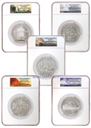 2010 America The Beautiful 5 Ounce Silver National Parks 5 Coin Set NGC Gem Uncirculated