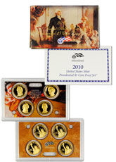 2010-S U.S. Presidential Dollar Proof Set GEM Proof OGP