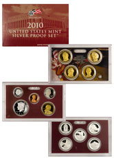 2010-S U.S. Silver Proof Coin Set GEM Proof OGP