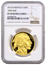2010-W 1 oz Gold Buffalo Proof $50 NGC PF70 UC
