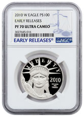 2010-W 1 oz Platinum American Eagle Proof $100 NGC PF70 UC ER