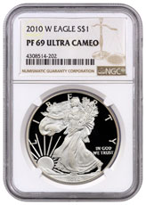 2010-W Proof American Silver Eagle NGC PF69 UC
