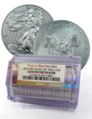 2011(W) Silver Eagle Struck at West Point Mint - Certified Roll of 20 - NGC Gem Uncirculated