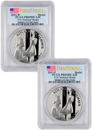 2011 P + W 9/11 10th Anniversary September 11 Memorial Silver Medal 2 Coin Set (S11, S12) PCGS PR69 FS Proof 69 Deep Cameo First Strike