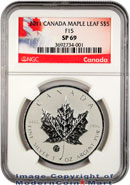 2011 Canada 1 oz Silver Maple Leaf $5 With F15 Privy Mark NGC SP69 Specimen 69 ***EXCLUSIVE LABEL***