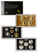 2011-S U.S. Silver Proof Coin Set GEM Proof OGP