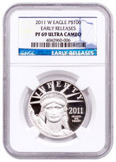 2011-W 1 oz Platinum American Eagle Proof $100 NGC PF69 UC ER