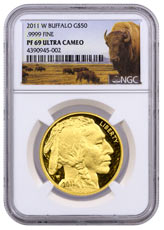 2011-W 1 oz Gold Buffalo Proof $50 NGC PF69 UC (Buffalo Label)