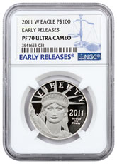 2011-W 1 oz Platinum American Eagle Proof $100 NGC PF70 UC ER