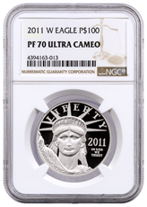 2011-W 1 oz Platinum American Eagle Proof $100 NGC PF70 UC
