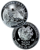 2012 Armenia 1 Oz Silver Noah's Ark 500 Drams Gem Brilliant Uncirculated